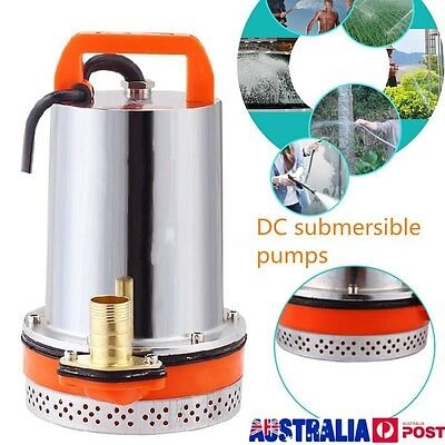12V Stainless steel Submersible Water Pump Clean Clear Dirty Pool Pond Flood AU