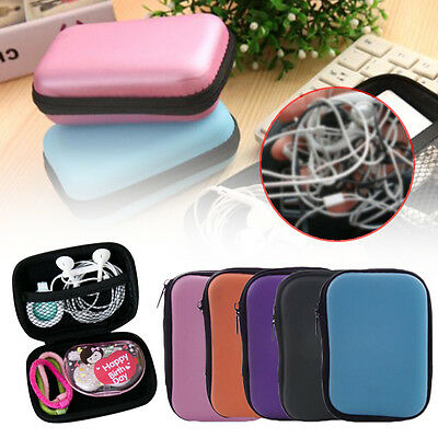 Data Cable Charger Earphone Storage Box Bag USB MP3 Pen Packing Case Portable