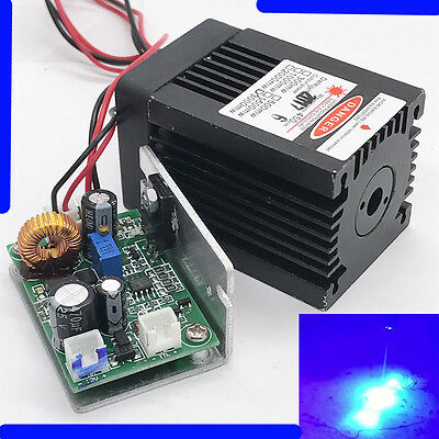 Engraving 3W-3.5W 450nm Blue laser Module/TTL/Cut/Burning/Gift Goggle