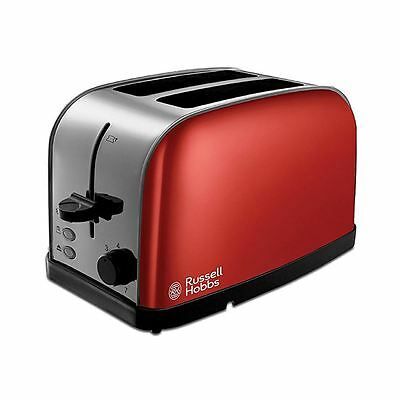 Russell Hobbs 18781 Red 2 Slice Wide Slots Dorchester Toaster New
