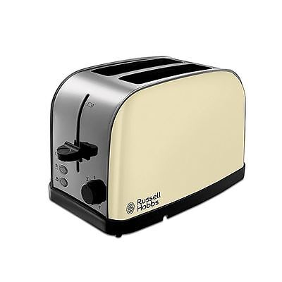 Russell Hobbs 18783 Cream 2 Slice Wide Slots Dorchester Toaster New