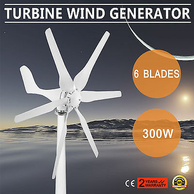 Wind Turbine Generator 300W Dc12V Powerful 6 Blades Volt Option Industry Supply