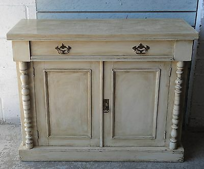 Antique Victorian French Shabby Chic Painted Chiffonier Sideboard Cupboard