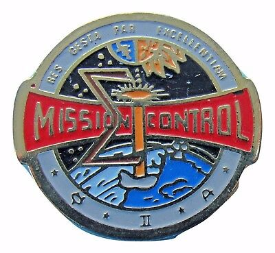 NASA PIN vintage MISSION CONTROL Space Shuttle