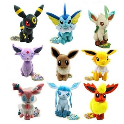 Pokemon Evolution of Sit Leafe Sylveon Eevee Umbreon Plush Doll Toy Plüsch Puppe