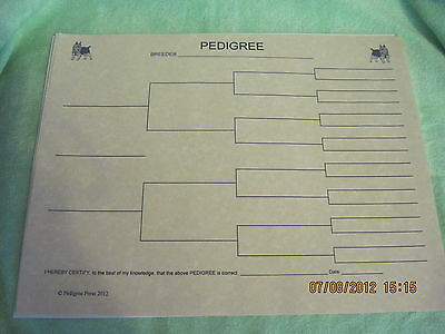 Australian Terrier Blank Pedigree Sheets Pack 10 FREE SHIPPING IN USA dog canine