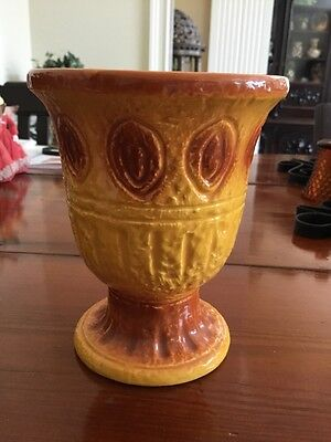 Ardco Fine Quality Dallas Figurine Pot Vase Vintage Yellow Orange Made In Japan