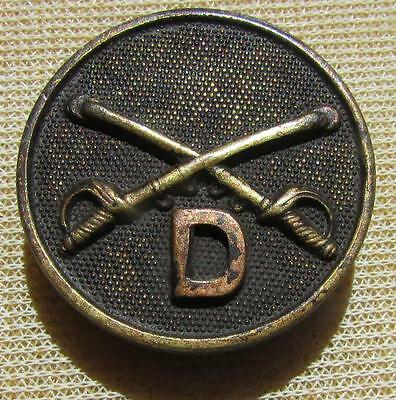 """WW1 US Cavalry """"D"""" Troop Collar Disc, with the nut"""