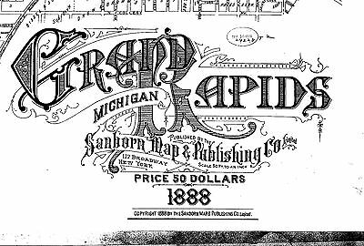 Grand Rapids, Michigan~Sanborn Map© sheets~ 1888~ 87 maps on a CD