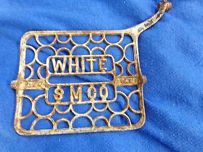 Antique White Treadle Sewing Machine Cast Iron Foot Pedal Steampunk Vintage