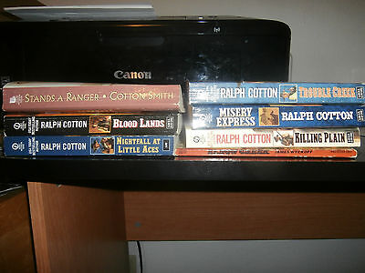 Western paperback book lot of 7 Ralph Cotlon and more