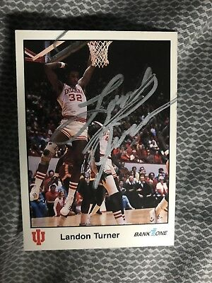 Landon Turner Signed Trading Card Autographed Indiana Hoosiers IU Bank One 1