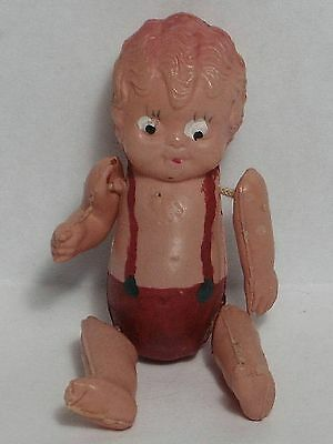 """Vintage Celluloid """"boopie"""" Doll Toy Strung Arms Legs Painted Japan"""
