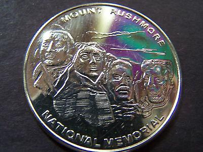 Mount Rushmore National Memorial Silver-Plated Bronze Souvenir Medallion