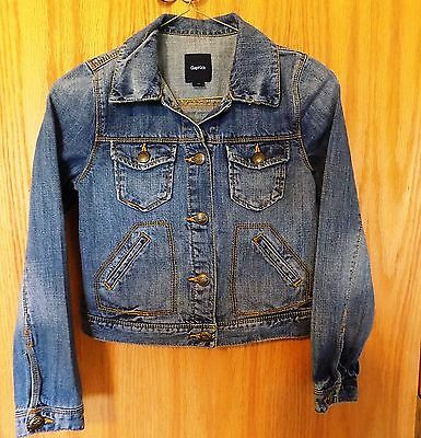 Gap Kids Boys Girls M 8 Jean Jacket Blue Denim Classic Basic Unisex Outerwear
