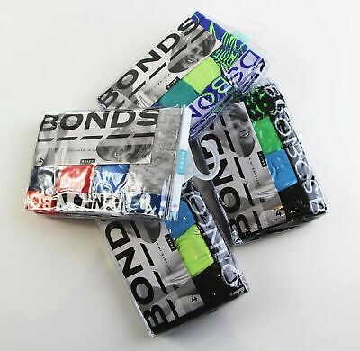 12 PAIRS x ASSORTED BONDS KIDS BOYS BRIEFS Underwear Briefs Black Blue Green Red