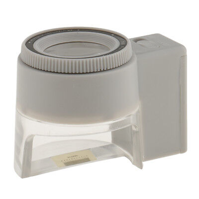 LED Illuminated Jewelers Loupe 8X Magnifier Magnifying Glass with Scale
