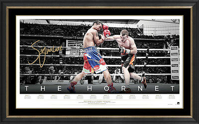 The Hornet – Jeff Horn World Champion Signed Icon Series Lithograph Framed $599