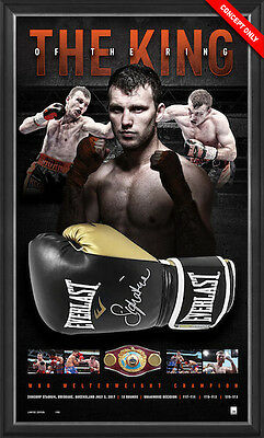 King Of The Ring – Jeff Horn World Champion Signed Glove Framed $1299