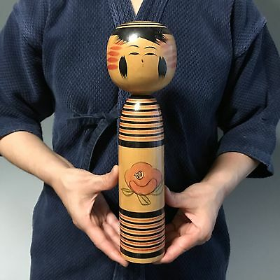 F/S Japanese Antique Wooden Doll Sosaku KOKESHI Vintage signed Figure