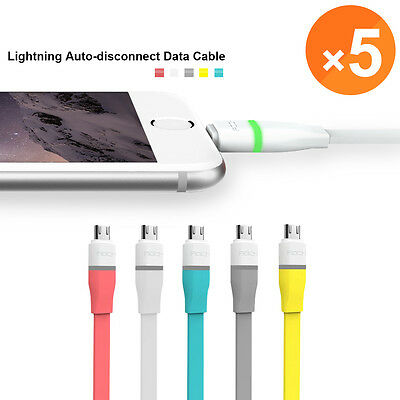 LOT Mix Colors Flat 3FT Micro USB Charger Sync Data Cable For Android Cell Phone