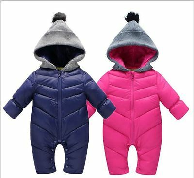 Snow Proof Baby Infant Hoodie Snowsuit Winter Ski Snow Suit Unisex Boys/Girls