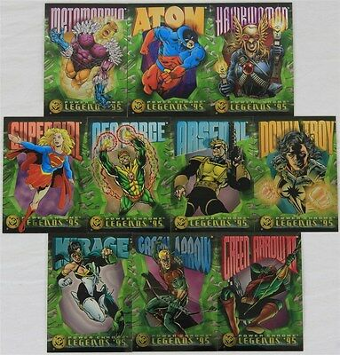 DC Power Chrome Legends '95 Trading Cards: Numbers 11/17/19/22/23/26/27/28/32/33