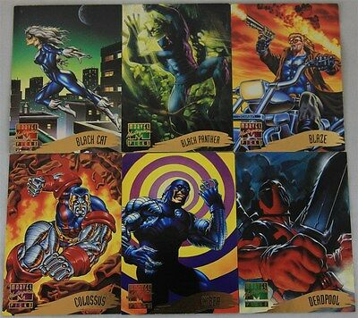 Marvel Masterpieces Picks 35x Trading Cards: Number 115-120 & 122-150