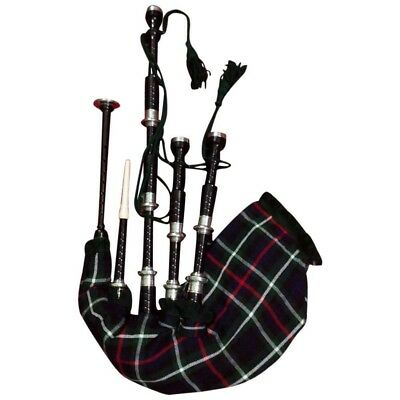 TC Scottish Great Highland Bagpipe Rosewood Black Color Silver/Scottish Bagpipes
