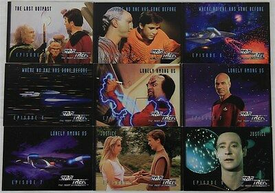 Star Trek The Next Generation SkyBox 9x Trading Cards: Numbers 24 - 32