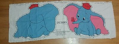 Vintage DUMBO Pillow pattern DISNEY Animal Doll fabric print nursery Disneyland