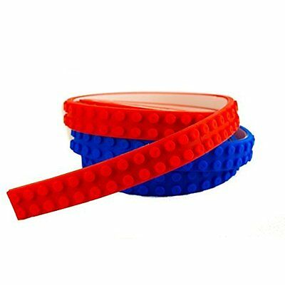 Lego Tape & Nimuno Loops Compatible Toy Building Block, 2 Rolls, Red & Blue