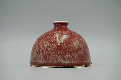 Antique Chinese Kangxi cowpea-red-glazed porcelain pot