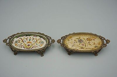 Pair Antique chinese export porcelain bowls with marks