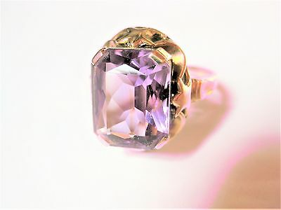 Antiker Ring Gold 585 mit Amethyst, 4,4 g