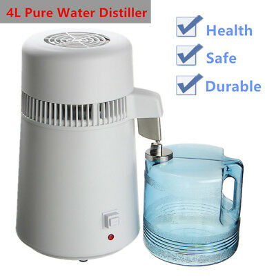 AU Dental/Medical 4L Water Distiller Pure Purifier Filter Stainless Steel