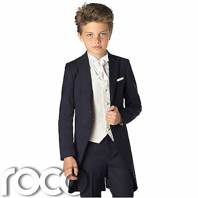 Boys Navy Suit, Wedding Suit, Boys Wedding Outfits, Tail Suits, Navy Suits