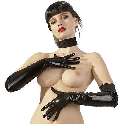 Latex Gloves L Guanti In Lattice Nero Di Latex