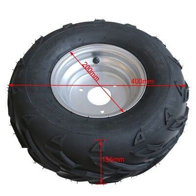 16x8-7 Wheel Tyre/Tire + Rim ATV Quad Bike Buggy Ride on Mower Go kart 110/125cc