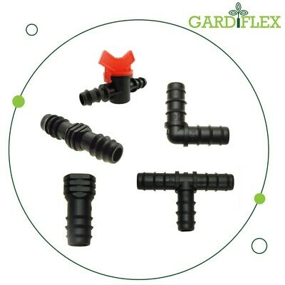 Garden Micro Irrigation Watering System Connectors 13mm ID 16mm OD - Multi Item