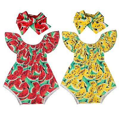Cute Newborn Kids Baby Girls Clothes Outfits Romper Bodysuit Jumpsuit 2PCS Set