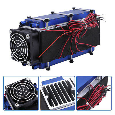 12V 576W 8 Chip Thermoelectric Cooler Radiator DIY Cooling Device Water Cooled