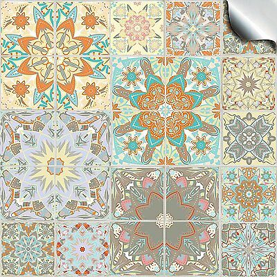 Self Adhesive Tile Sticker Decal Kitchen Bathroom Mosaic Transfer Traditional