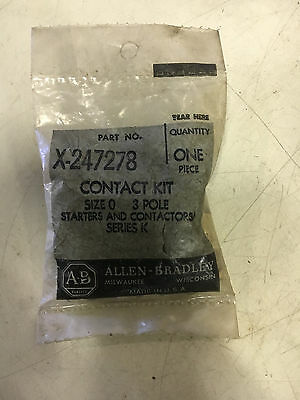 Allen Bradley X-247278 New In Pack Contact Kit Size 0 3 Pole See Pics #b46