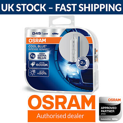 Osram Xenarc Cool Blue Intense D4S Up To 6000K Xenon HID Headlight Bulb (Twin)