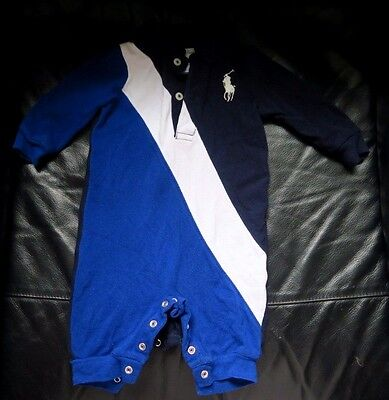 Baby boys Ralph Lauren Romper baby grows all in one suit 3 months old big pony