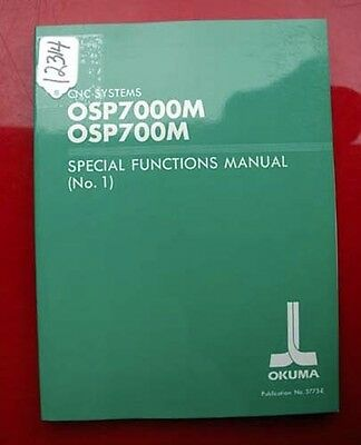 Okuma CNC Systems Special Functions Manual (No. 1): OSP : 3773-E (Inv.12314)