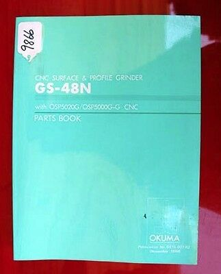 Okuma GS-48N CNC Surface & Profile Grinder Parts Book: GE15-007-R2 (Inv.9866)