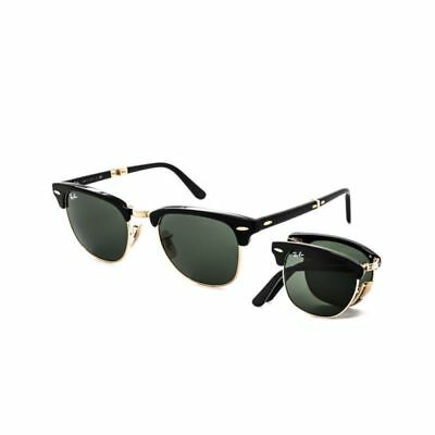 RAY-BAN Clubmaster Folding RB2176 901 51-21 Green G-15 Lenses with Black  Frame -  118.99   PicClick 47b4db70da