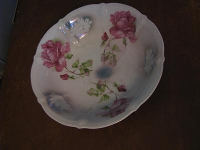 """Hand Painted Serving Bowl Made in Germany 9"""""""